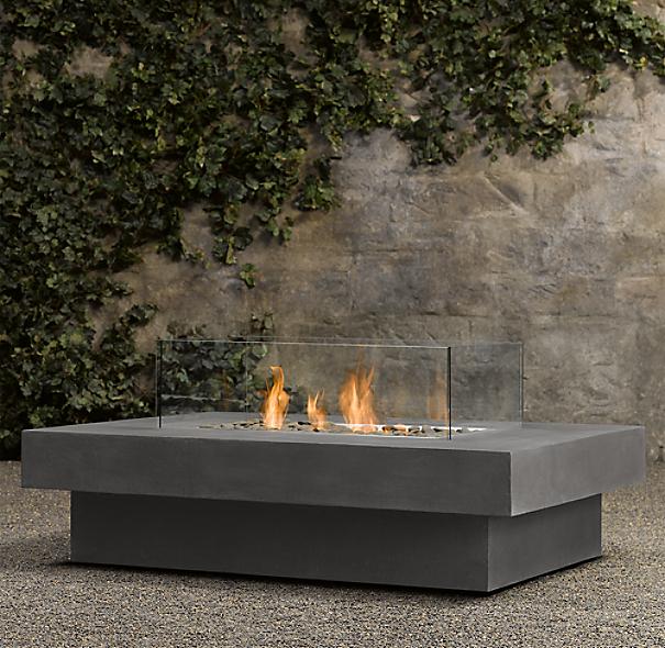 Water In Gas Tank >> Laguna Concrete Natural Gas Rectangular Fire Table