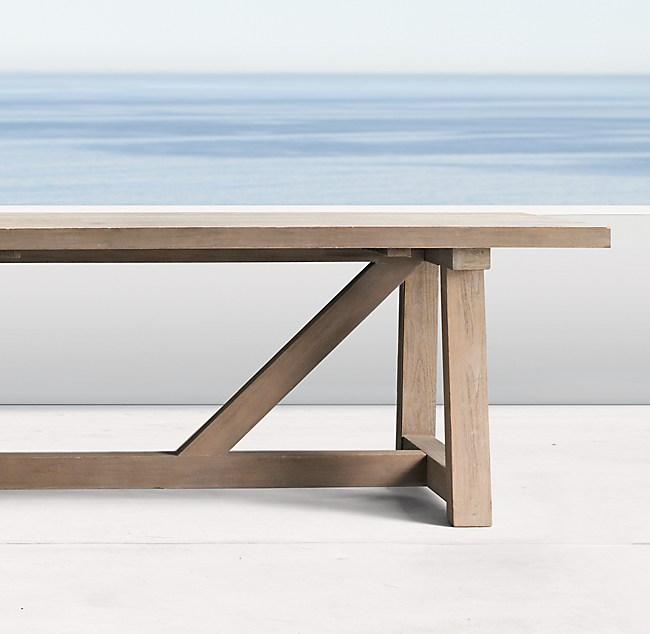 Magnificent French Beam Teak Rectangular Dining Table Interior Design Ideas Inesswwsoteloinfo