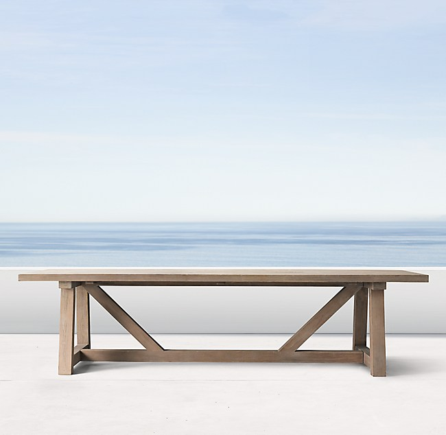 Beam Teak Rectangular Dining Table