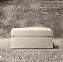 Belgian Slope Arm Outdoor Ottoman