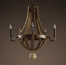 Wine Barrel Chandelier 31""