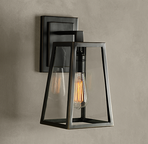 Modern filament sconce for Applique exterieur zinc
