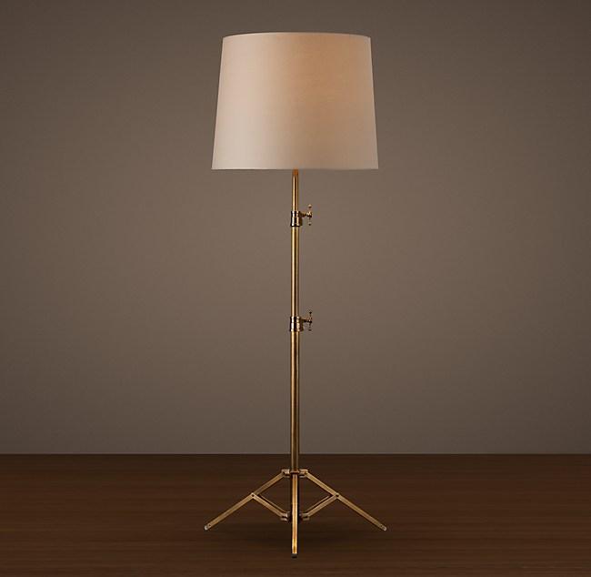 Photographer S Telescoping Floor Lamp White Shade