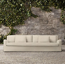 "133"" Belgian Slope Arm Outdoor Sofa"