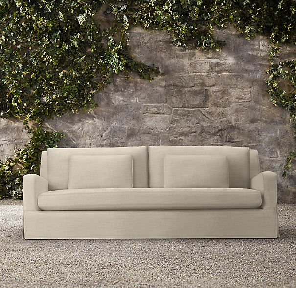 84 Quot Belgian Slope Arm Outdoor Sofa