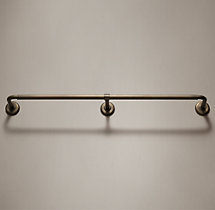 Cast Iron Hotel Rod - Chestnut