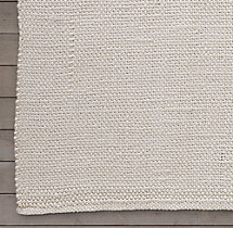 Looped Basket Weave Rug Swatch - White