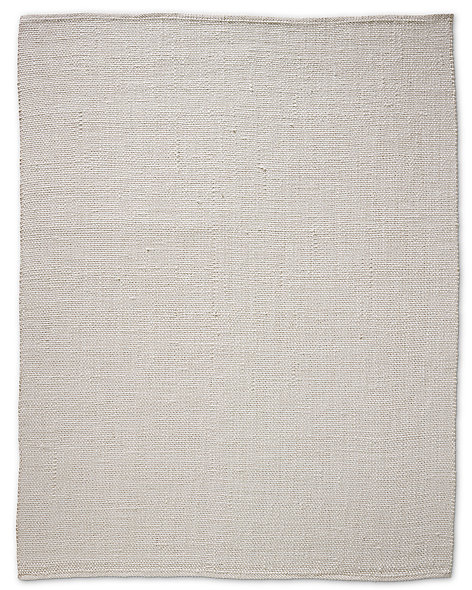 Looped Basket Weave Rug - White