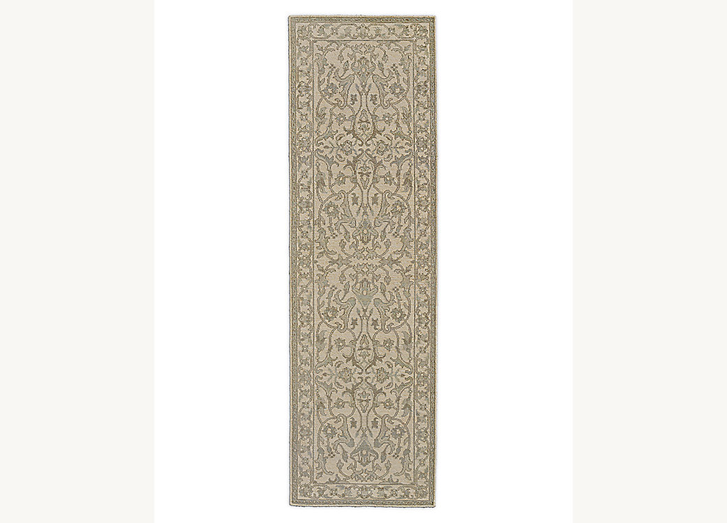 Sara Hand-Knotted Rug - Grey
