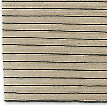 Pinstripe Flatweave Rug Swatch - Ivory/Charcoal