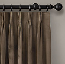 Perennials® Velvet Drapery - French Pleat