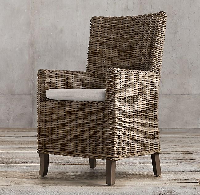 Handwoven Rattan Armchair