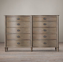 Empire Rosette 10-Drawer Dresser