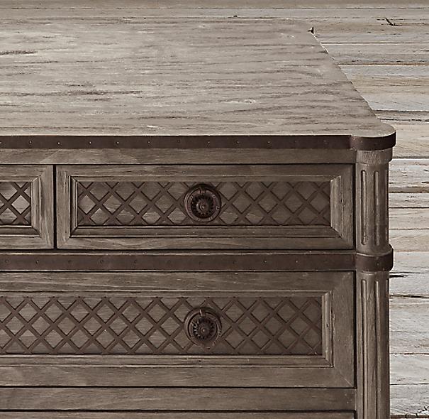 Restoration Hardware Louis Xvi Dresser: Louis XVI Treillage 12-Drawer Dresser