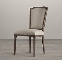 Vintage French Nailhead Fabric Side Chair