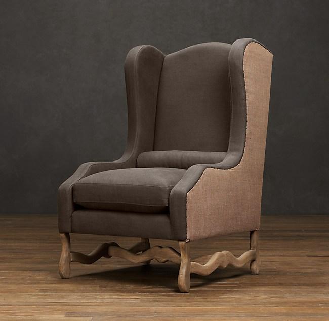 Os De Mouton Wingback Chair