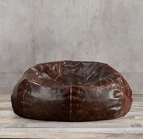 Grand Leather Bean Bag