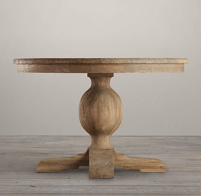 French Urn Pedestal Dining Table - 60 inch round wood pedestal dining table