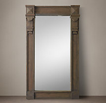 19th C. American Neoclassical Window Mirror - Brown