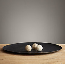 Antiqued Metal Plate - Extra-Extra Large