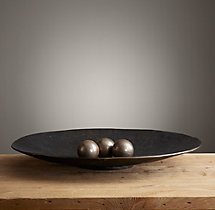 Antiqued Metal Platter - Extra-Large