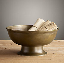 19th C. Cast Brass Bowl