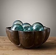 17th C Indian Petal Stone Bowl