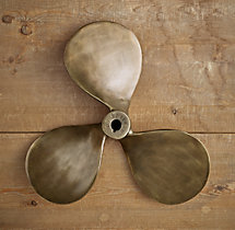 Boat Propeller - Antique Brass