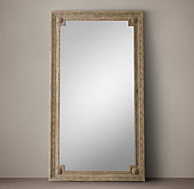 Louis XVI Beaded Leaner Mirror - Natural