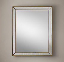 Venetian Beaded Mirror - Aged Brass