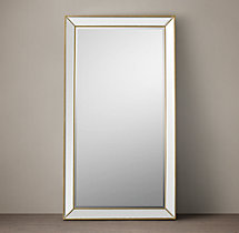 Venetian Beaded Leaner Mirror - Aged Brass