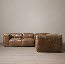 Preconfigured Fulham Leather Corner Sectional