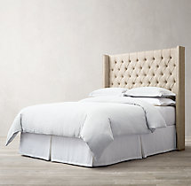 Adler Shelter Diamond-tufted Fabric Headboard