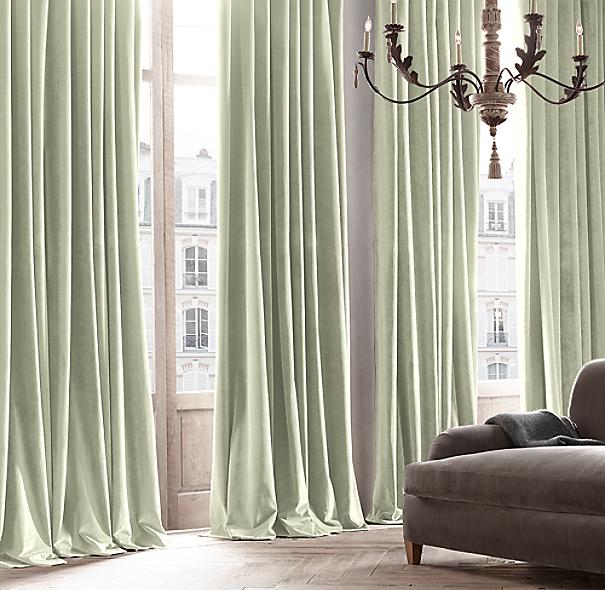 vintage velvet drapery eucalyptus
