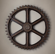 Grand Early 20Th C. Panel Factory Gear Molds - Foundry