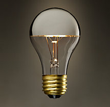 A19 Silver Tipped Incandescent Bulb