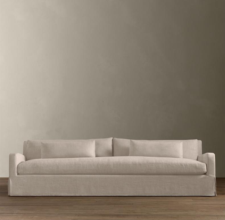 Belgian Slope Arm Slipcovered Sofa