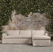 Belgian Slope Arm Outdoor Right-Arm Chaise Sectional