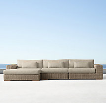 Majorca Luxe Left-Arm Chaise Sectional Cushions