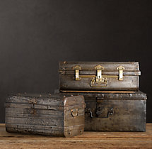 1950s Iron Traveler's Trunks