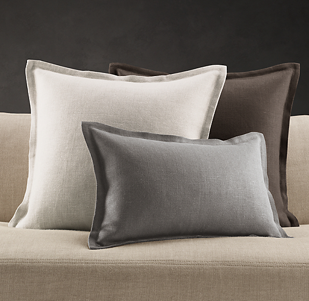 Belgian Linen Flanged Pillow Cover