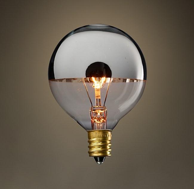 G16 Globe Silver Tipped Candelabra Incandescent Bulb