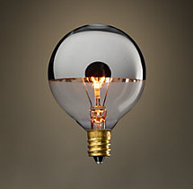 G16 Globe Silver-Tipped Candelabra Incandescent Bulb