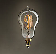 A15 Candelabra Squirrel-Cage Filament Incandescent Bulb