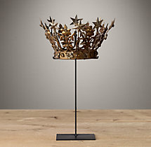19Th C. Crowns On Stands Jeweled Star Crown