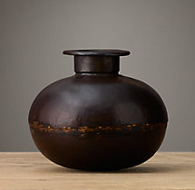 Vintage Indian Iron Vessels - Small