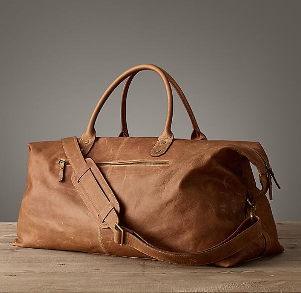 Italian Leather Weekender Bag