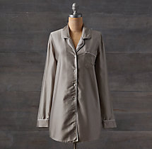 Vintage-Washed 600 Sateen Nightshirt