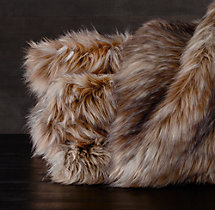 Exotic Faux Fur Oversized Bed Throw - Siberian Red Fox