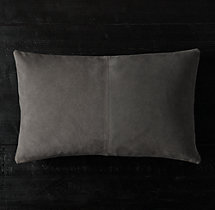 Cowhide Suede Pillow Cover - Lumbar